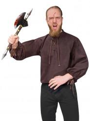 Bruine middeleeuwse blouse voor mannen