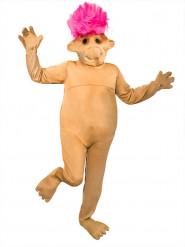 Roze beige troll kostuum voor volwassenen
