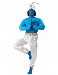 Blauw met wit Oriëntaalse geest kostuum voor volwassenen