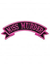 Roze en zwart Miss Murder gothic patch