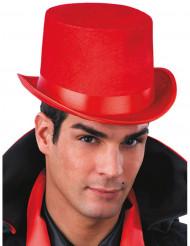 Rode hoge hoed voor volwassenen
