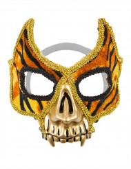 Venetiaans tijger masker met goudkleurige tanden