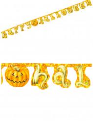 Oranje Happy Halloween pompoen slinger