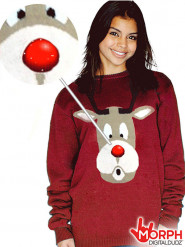 Digital Dudz Rudolf rendier trui voor volwassenen