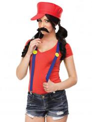 Rode loodgieter kostuum voor vrouwen