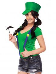 Groene videogame loodgieter set voor vrouwen