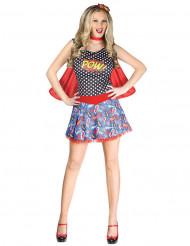 Stripboek superheldin kostuum voor vrouwen