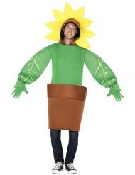 Zonnebloem in pot kostuum voor volwassenen