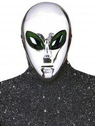 Zilverkleurig alien masker voor volwassenen