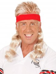 Blonde mullet hoofdband voor volwassenen