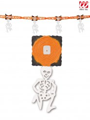 Oranje skelet slinger