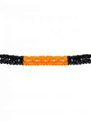 Oranje en zwarte Halloween slinger