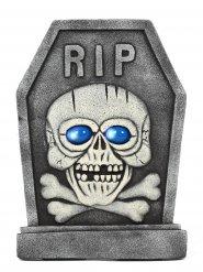 Grijze en blauwe skelet grafsteen