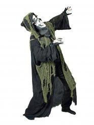 Zwarte reaper cape met capuchon en doek voor volwassenen