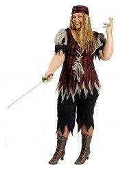 Piraten zeerover kostuum voor vrouwen - Grote Maten