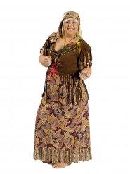 Jaren 60 hippie outfit voor vrouwen - Grote Maten