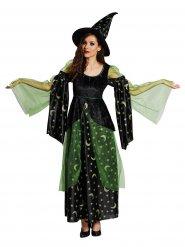 Duistere groene heks kostuum voor vrouwen