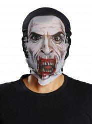 Zwart en wit vampier masker voor volwassenen