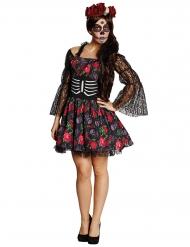 Dia de los Muertos skelet kostuum voor Halloween