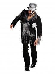Zwart met grijs zombie bruidegom kostuum voor mannen