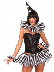 Harlekijn clown accessoire set voor vrouwen