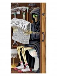 Halloween maaier op wc deurdecoratie