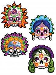 4 decoratieve maskers Dia de los Muertos