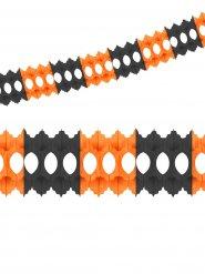 Oranje en zwarte papieren slinger