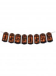 Zwart oranje Halloween slinger