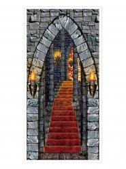 Duistere kasteel deur decoratie