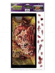 Magnetron zombiehoofd sticker