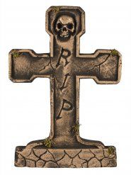 Bronskleurige RIP grafsteen decoratie