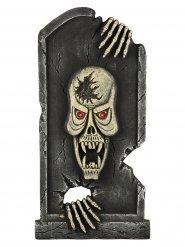 Skelet grafsteen versiering
