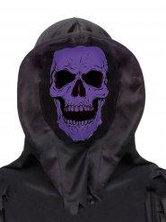Zwart en paars doodskop masker voor volwassenen