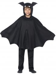 Zwarte vleermuis poncho voor kinderen