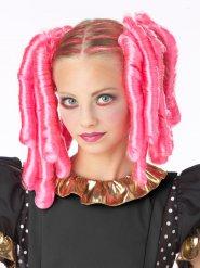 Roze gekleurde haar accessoires voor volwassenen