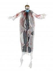 Zombie dokter ophangdecoratie met licht