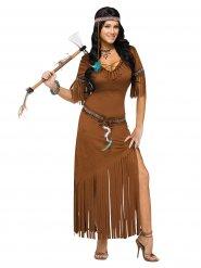 Indianen jurk met franjes voor vrouwen