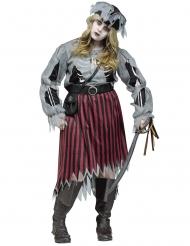 Zombie piraten kostuum voor vrouwen - Grote Maten