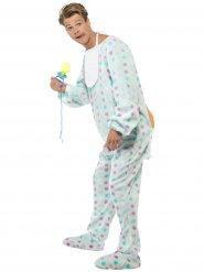Lichtblauw baby kostuum met stippen voor mannen
