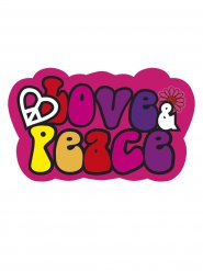 Love and Peace Hippie decoratie