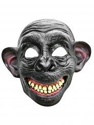 Latex lachende aap half masker