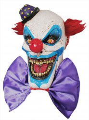 Angstaanjagend latex clown masker