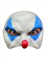 Blauw en wit evil clown masker voor volwassenen