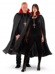 Vampier cape met lichtgevende kraag