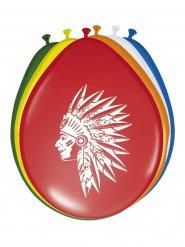8 veelkleurige indianen ballonnen