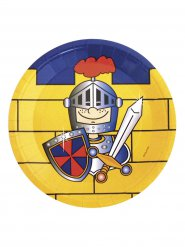 8 kartonnen bordjes ridder