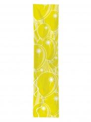 Gele ballonnen verjaardag feest banner
