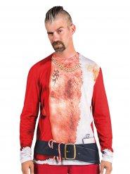 Kleurrijk grappig kerst t-shirt voor mannen