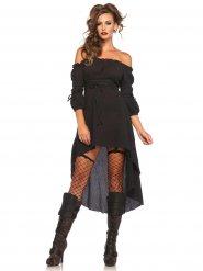 Zwarte historische jurk outfit voor vrouwen